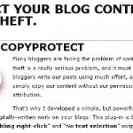 Protecting Blogs Against Content Theft