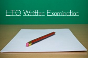 LTO Written Exam Passing The LTO Written Exam