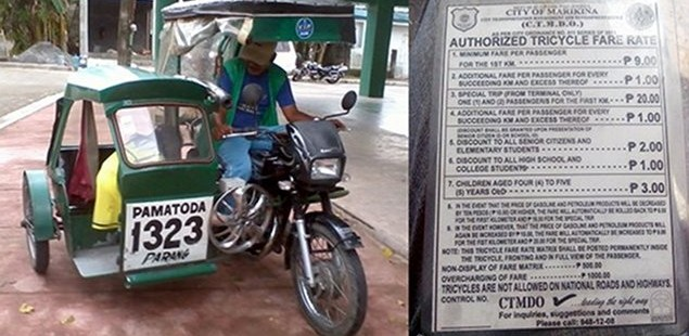 Discount On Senior Citizen's Tricycle Fare
